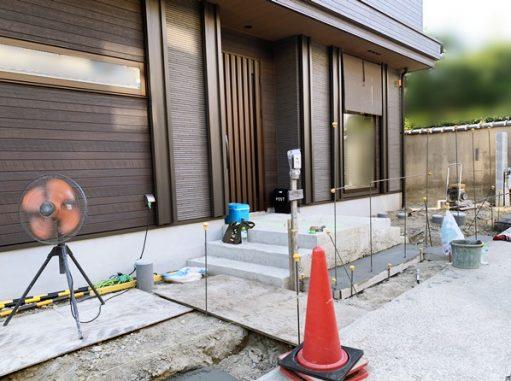 LABOT::山科区T様邸の新築外構工事が始まりました