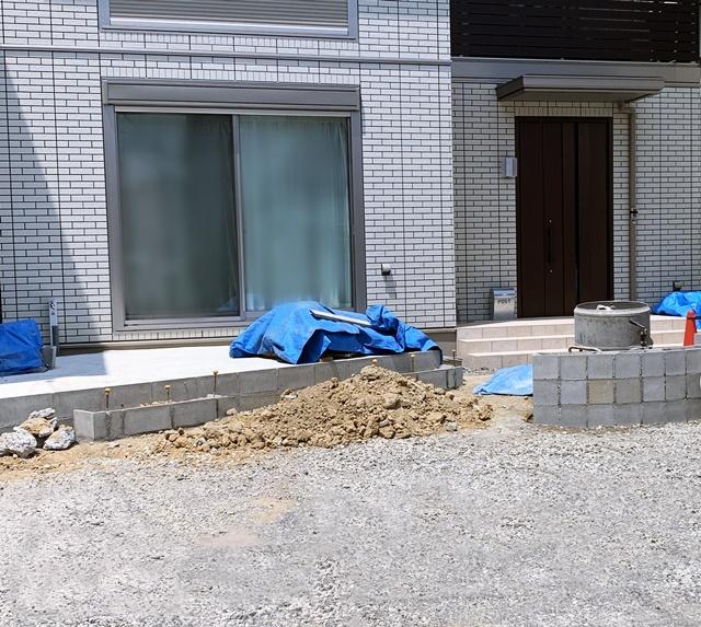 京都 LABOT - lab-t.com - ちょっと斜めにしたタイルテラス@長岡京市I様邸 -