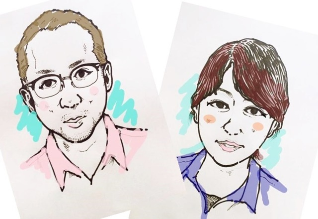 京都 LABOT - lab-t.com - 似顔絵を描いてもらったよ -