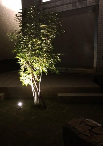 京都 LABOT - lab-t.com - 長岡京市I様邸の植栽をライトアップ! -