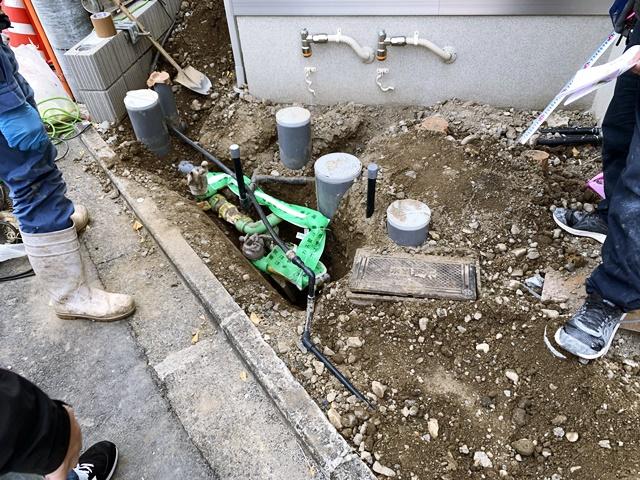 京都 LABOT - lab-t.com - 右京区の二世帯住宅、S様邸の新築外構工事が着工しました -