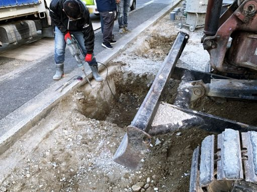 LABOT::地中の工事に奮闘中@右京区二世帯住宅S様邸