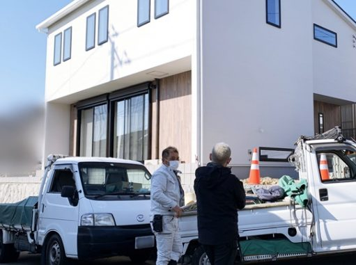 LABOT::城陽市で新築外構工事が始まりました