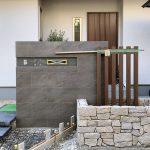 京都 LABOT - lab-t.com - 伏見区M様邸のタイルと石を使った門柱まわり -