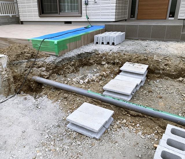 京都 LABOT - lab-t.com - ヘーベルハウスで新築された伏見区K様邸の新築外構工が事着工しました -