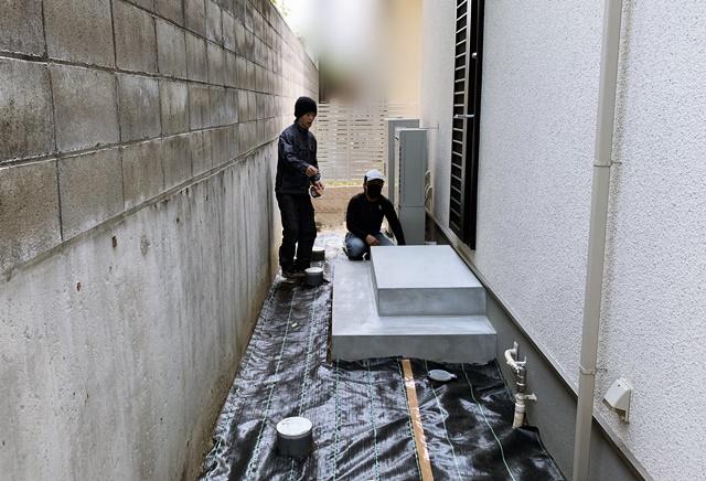京都 LABOT - lab-t.com - 右京区N様邸の新築外構工事着工 -