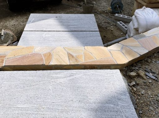 LABOT::乱形石の階段@伏見区K様邸工事進捗レポート
