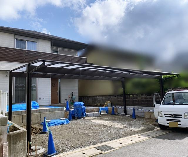 京都 LABOT - lab-t.com - 乱形石の階段@伏見区K様邸工事進捗レポート -