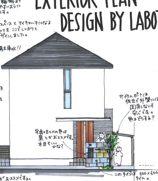 京都 LABOT - lab-t.com - 向日市K様邸の新築外構工事が着工しました -