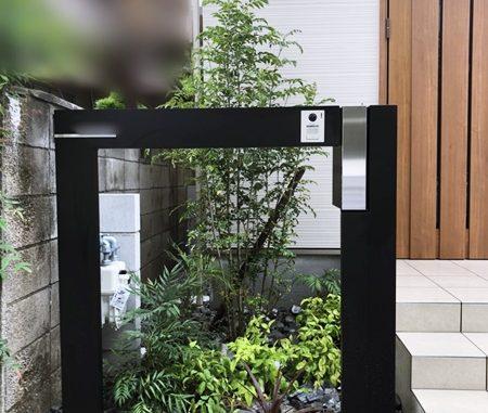 LABOT::長岡京市M様邸のおしゃれな機能門柱