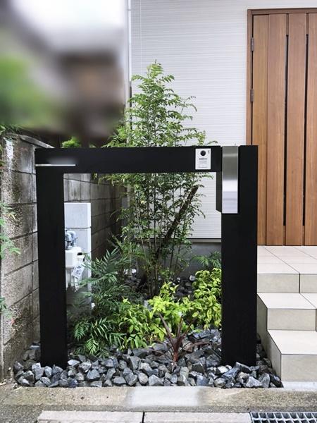 京都 LABOT - lab-t.com - 長岡京市M様邸のおしゃれな機能門柱 -