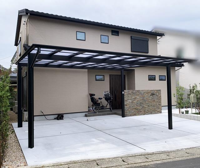 京都 LABOT - lab-t.com - 伏見区S様邸、門回りとガレージ側の完成blog -