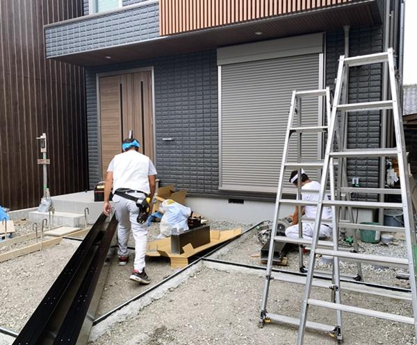 京都 LABOT - lab-t.com - ヘーベルハウスで建築されたM様邸新築外構工事始まってるよー -