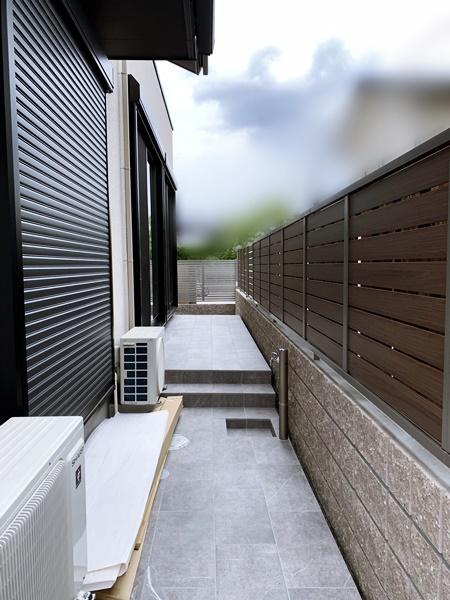 京都 LABOT - lab-t.com - タイルテラスの立水栓@右京区N様邸 -