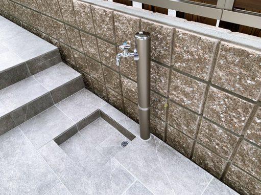 LABOT::タイルテラスの立水栓@右京区N様邸