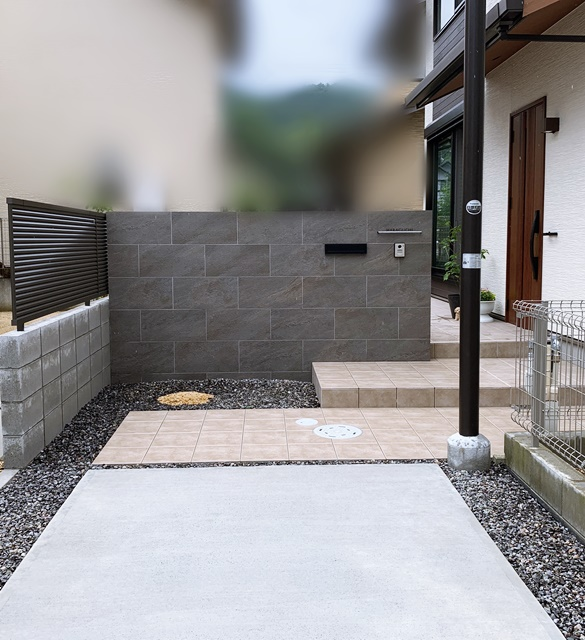 京都 LABOT - lab-t.com - 門柱の幅も外構のカッコよさを左右します -
