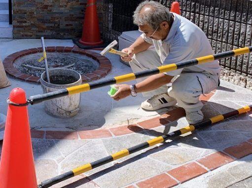 LABOT::石貼りの工程@西京区S様邸